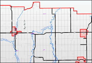 Click here for an enlarged map to Good Stuff Storage, just east of Sundre Alberta.